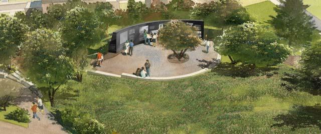 rendering of memorial site