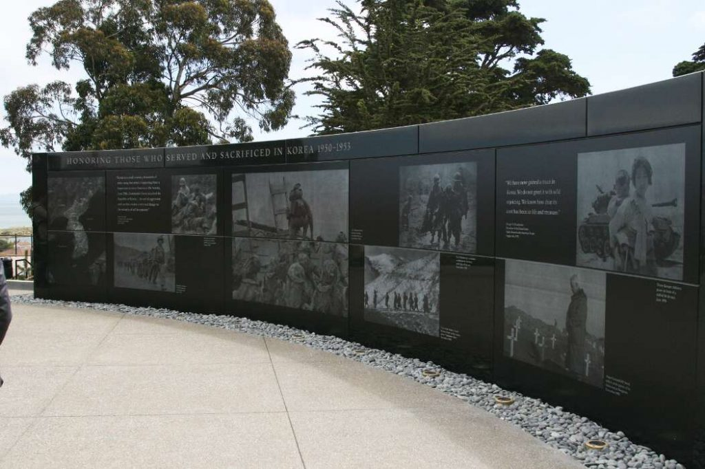 photo of main memorial wall