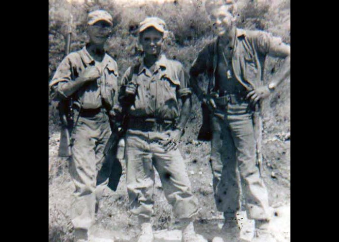 PFC Arnold Baez And Staff Sergeant Camp USMC July 1952