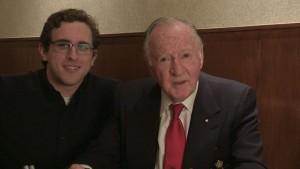 Interviewer Martin Madert with KWMF Treasurer Don Reid