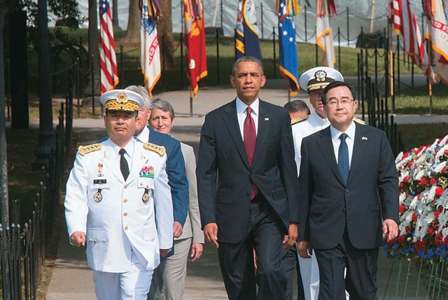 photo of Kim and Obama