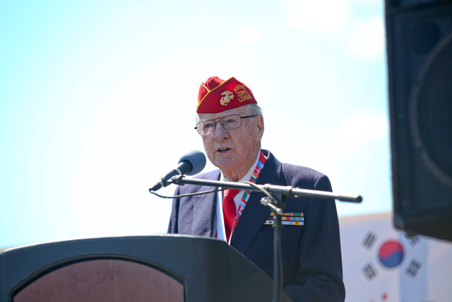 Donald Reid speaking