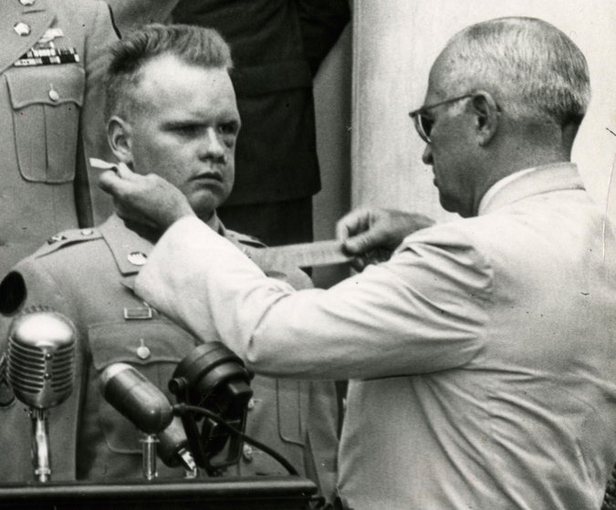 photo of Ingman with President Truman