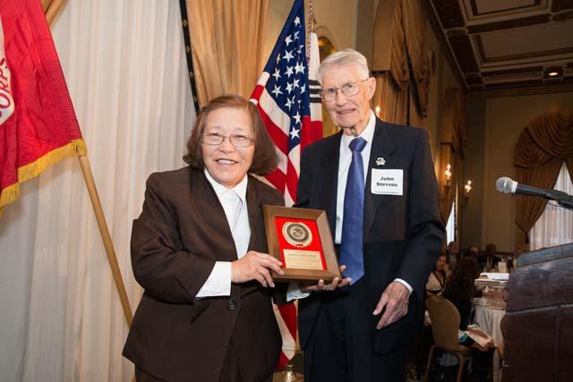 Joanna Kim Selby with John Stevens