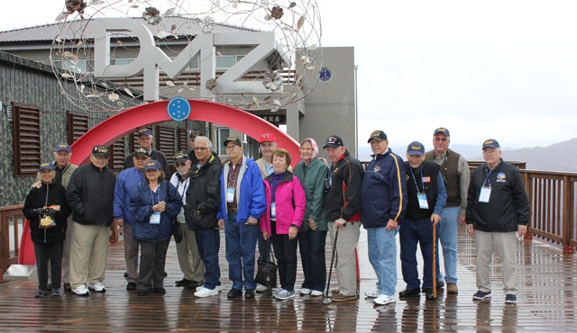 Tour participants at an observation post neat the DMZ, November, 2015