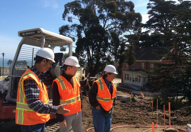 photo of construction management team