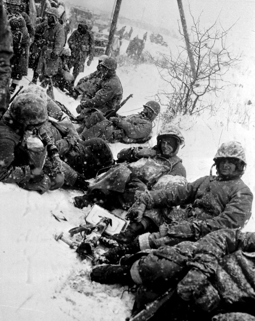 image of marines in snow at Chosin