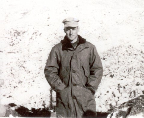 photo of Lieutenant Chenoweth in snow