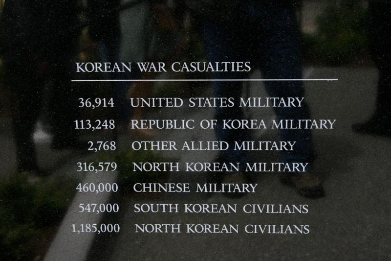 closeup of text listing war casualties