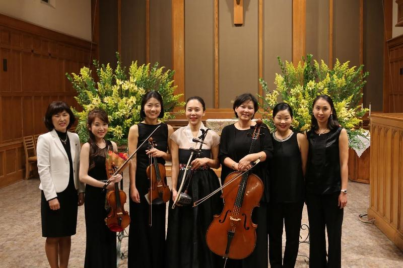 group photograph with instruments