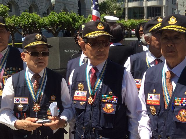 Korean Army veterans gathered for ceremony