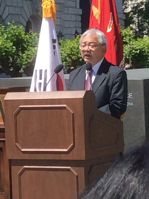 Mayor Lee speaks
