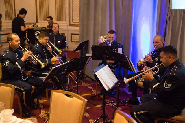 photo of USAF Golden West Band playing