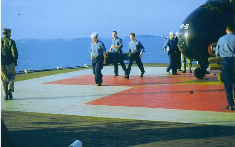 USS Consolation Marine Helicopter Korea 1951