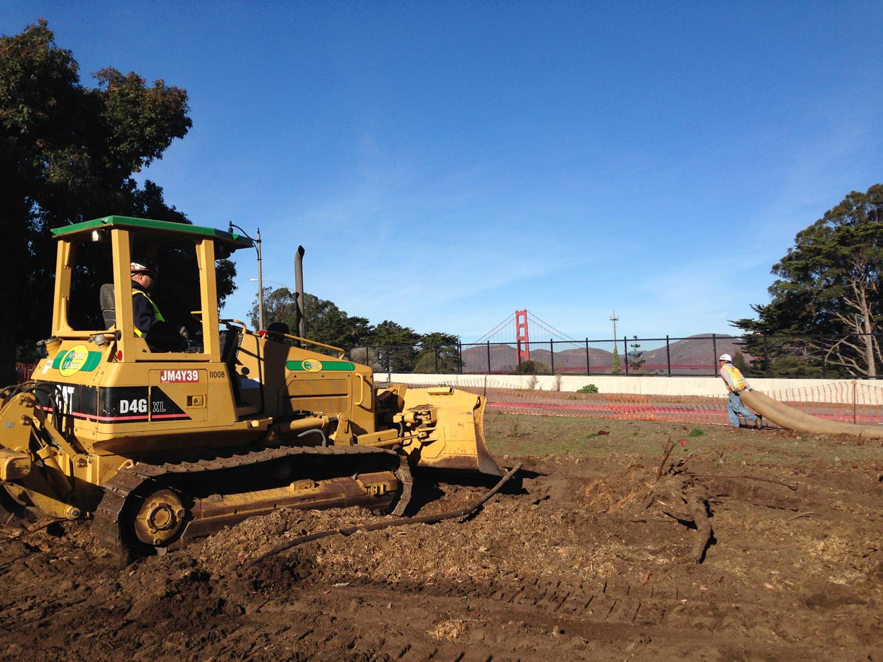 picture of bulldozer at site