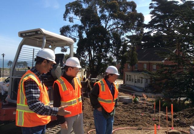 photo of construction management team