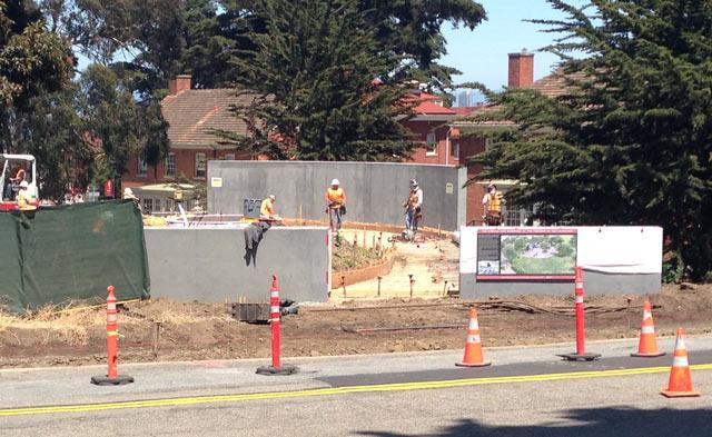memorial site under construction