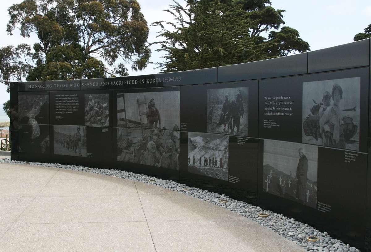 photo of korean war memorial in san francisco