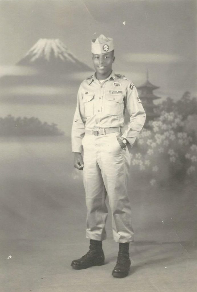 portrait of young Cleveland in Osaka