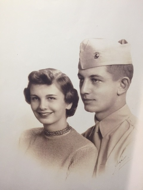 portrait of young Denny and Marianne